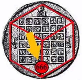 666 no cubo tridimensional