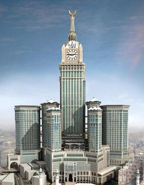 segundo maior edifício do mundo em Meca - na Arábia Saudita